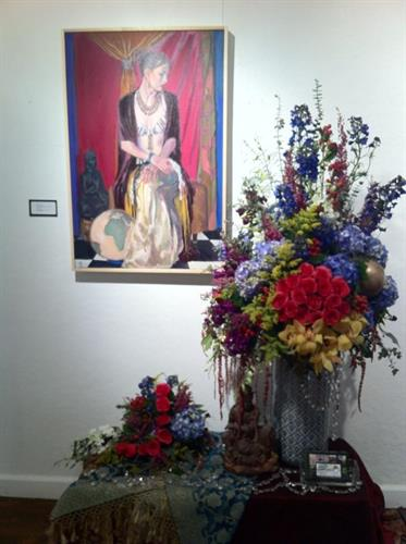 Art In Bloom floral interpretation by Jennifer Kelly of Steins at Sunset Florist