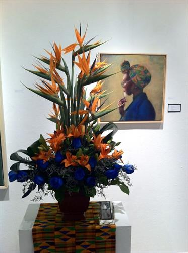 Art In Bloom floral interpretation by Patrick Kelly of Stein Your Florist Co.