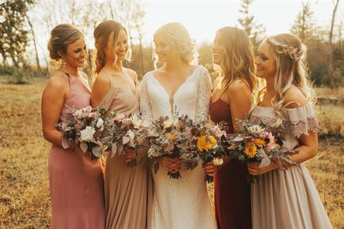 Chic, Boho Fall Bridal Party