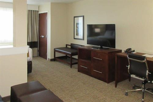 Comfort Inn & Suites King room with work station and flat screen TV
