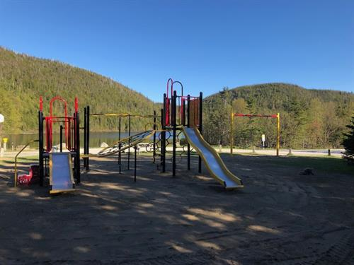 Playground located along the waterfront.