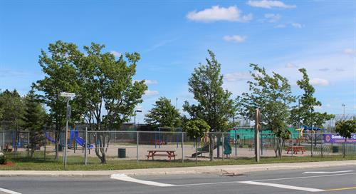 Playground at corner of Elizabeth and Memorial Drives, opened in 1959