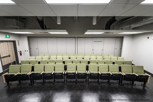 Host a press conference in the theater
