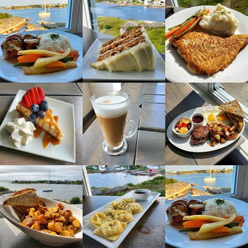 A sampler of our menu at Norton's Cove Café