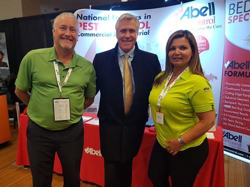 Doug & Maria with Dwight Ball, Premier of NL & Labrador