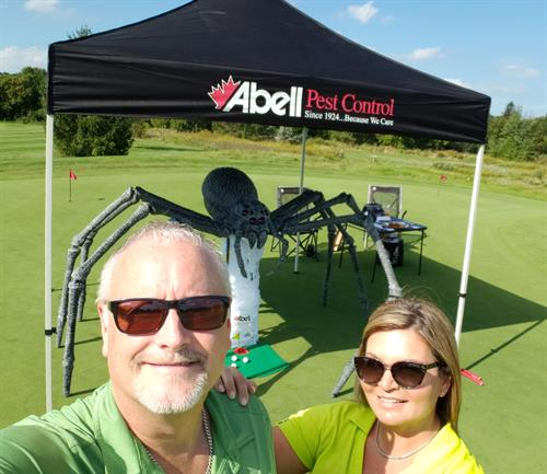 Resorts of Ontario Trade Golf tournament with Spider putting challenge