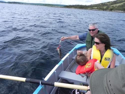 Row boat tour- catching cod 2017