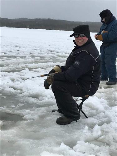 Ice fishing- winter 2017