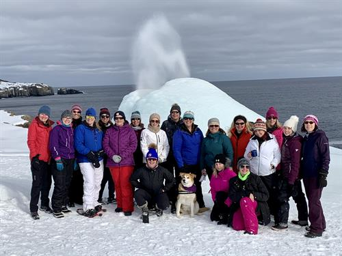 A winter treat is to visit The Spout on the southern shore of the Avalon