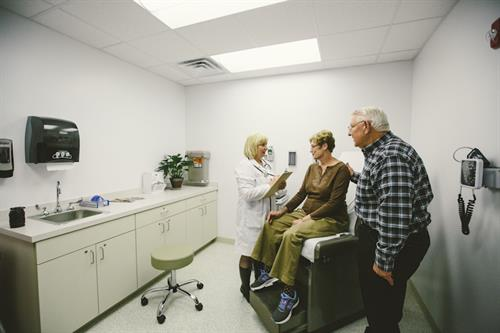 Spacious Exam Rooms