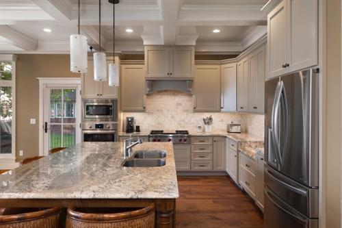 Painted Cabinetry with Granite tops