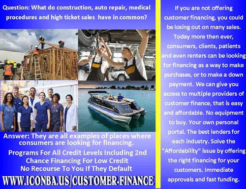 Increase profits by offering Customer Finance options
