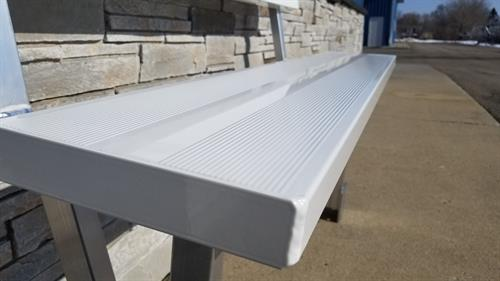 REGISTER TO WIN!! WHITE PAINTED ALUMINUM DOCK BENCH | $250 RETAIL VALUE
