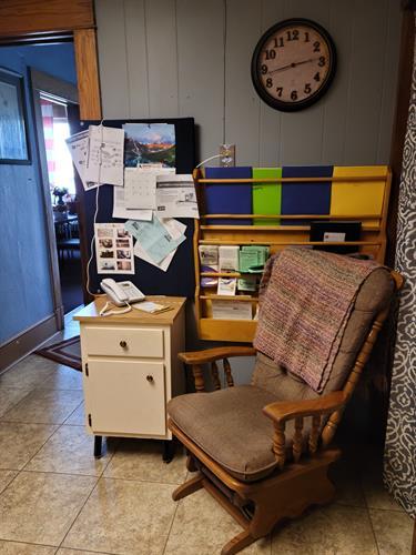 sitting area + member phone