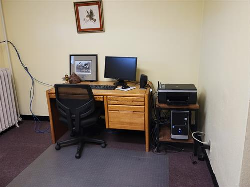 downstairs computer area