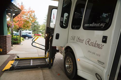 Wheelchair lift available on this van.