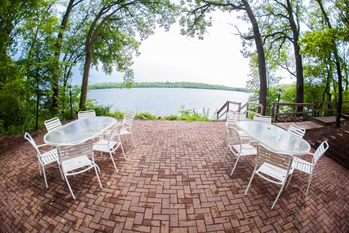 Patio by the lake homes