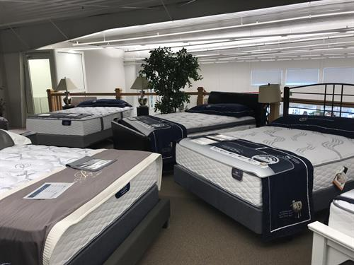 Our line of Serta mattresses is one of the best deals around for comfort, design and flexibility!