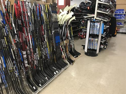 Our skate shop has all your skating needs for hockey and figure skating... year round!
