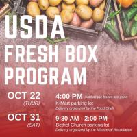 Two USDA Fresh Box deliveries coming to Fergus Falls