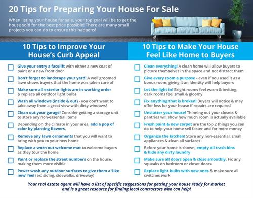 Just some items to think about before listing your home with me