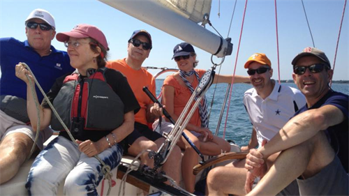 Sailing aboard J/24 Sparky in Fishers Island Sound (2015)