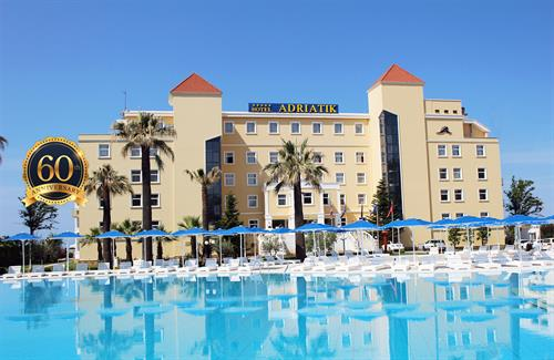 Front of Luxury Historic Adriatik Hotel in Albania