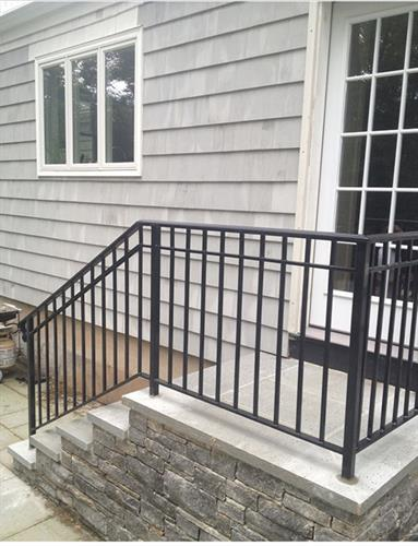 Don't want too ornate? Make our standard railing desingmore interesting by adding a second channel!