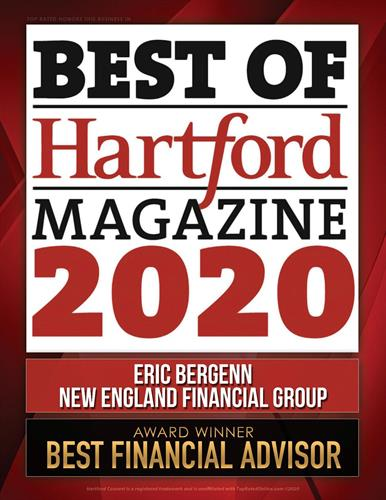 Winner - Best of Hartford Magazine 2020
