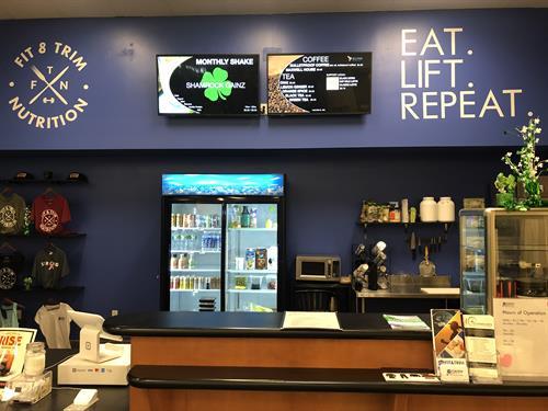 Fit & Trim Cafe inside of LA Fitness in Newington