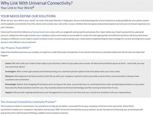 Why Universal Connectivity