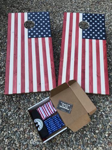 American Flag Cornhole Set