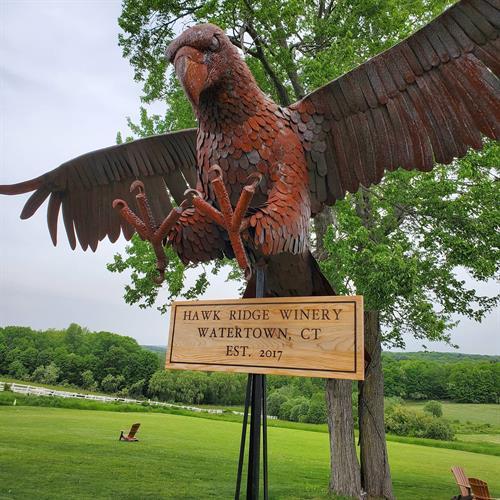 Custom Sign - Hawk Ridge Winery
