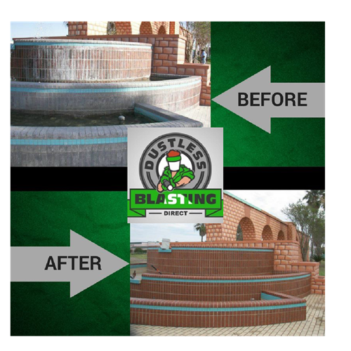 BEFORE AND AFTER BRICK WORK