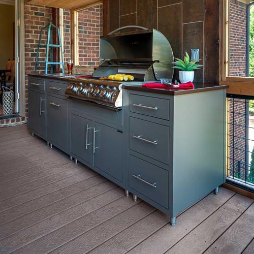 Custom Challenger Outdoor Kitchen with Blaze Grill