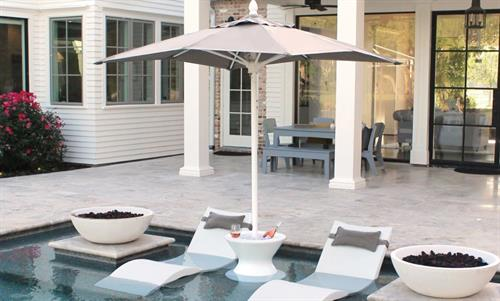 Ledge Lounger Chaise's with Umbrella