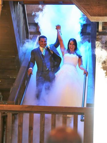 Looking for that unique entrance on your wedding day? We provide a variety of special effects for any occasion!