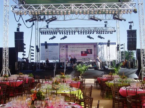 Our top-of-the-line audio equipment will ensure the audio portion of your event goes off without the slightest hitch.
