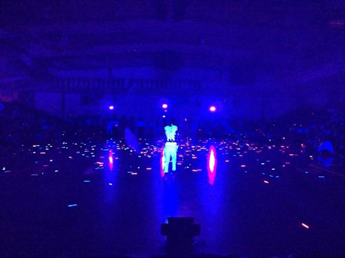 Providing ten high output UV LED Black lights for Rancho Cotate High School's Black Light Rally!