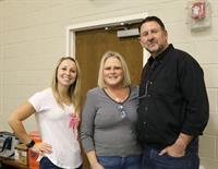 Rachel, Donna and Steve during a break at one of our Family Nights in our Gym