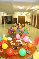 Setting up for a Kid's Klub Celebration