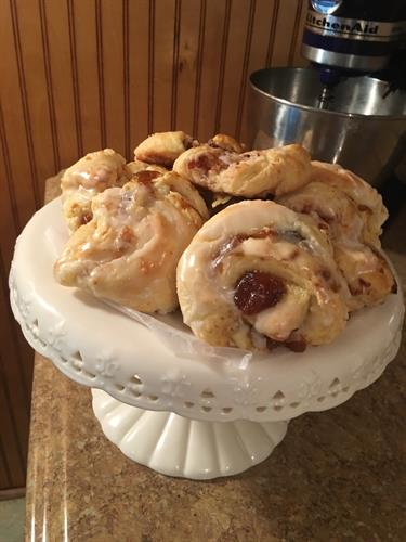 Homemade  Peach and Fig Danishes