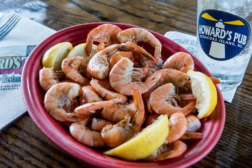 Steamed Shrimp, lightly seasoned and a Pub Favorite