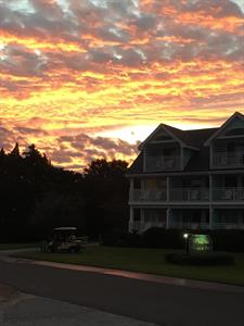 Sunrise over the Inn..