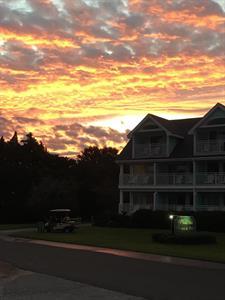 Sunrise over the Inn..