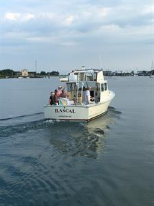 Charter boat Rascal, leaves from our dock daily