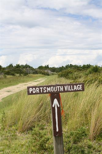 Portsmouth Island sign