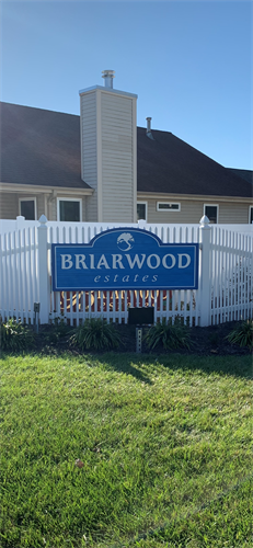 Sandblasted subdivision entrance sign