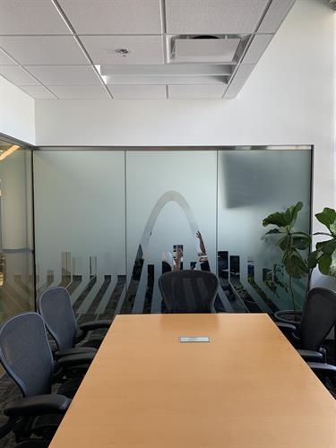 Window frost in an office suite