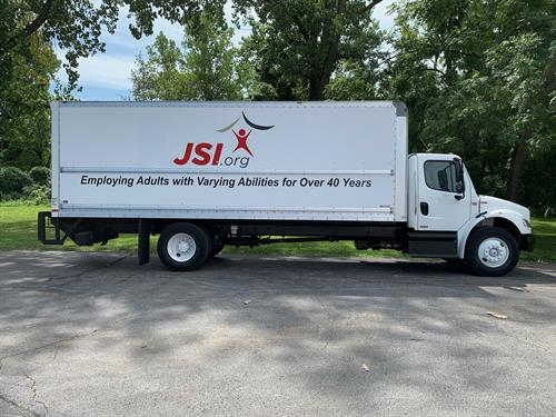 Vehicle lettering for box truck